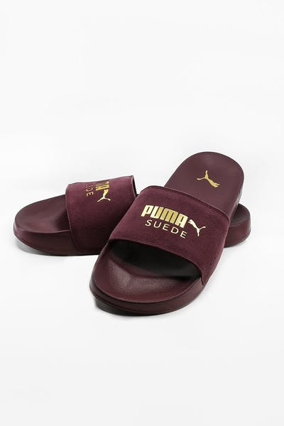 Puma Leadcat Suede Wine/Gold