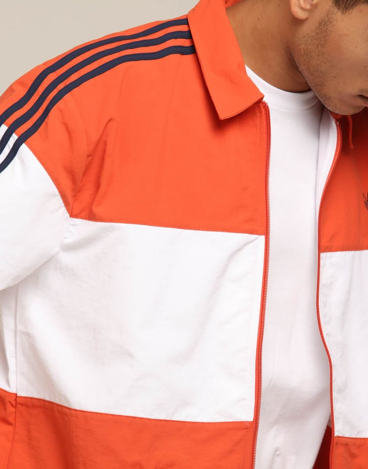 Adidas Coach Jacket Burnt Orange/White