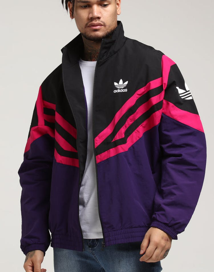 best place new cheap reliable quality Adidas Sportivo Track Top Black/Purple/Pink