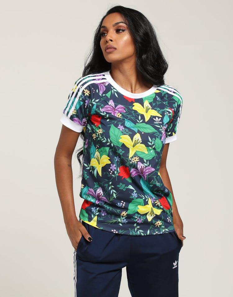 b2e0f969b1c Adidas Women's Blossom Of Life Graphic Tee Multi-Coloured – Culture ...