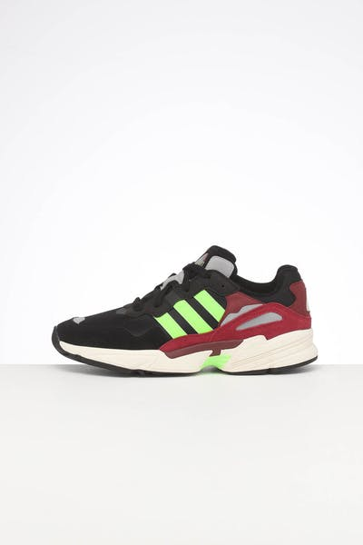ADIDAS YUNG-96 BLACK/GREEN/BURGUNDY