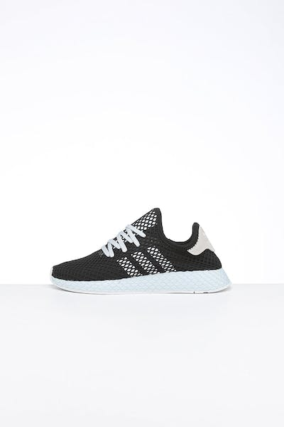 Adidas Women's Deerupt Runner Black/White/Bluetint