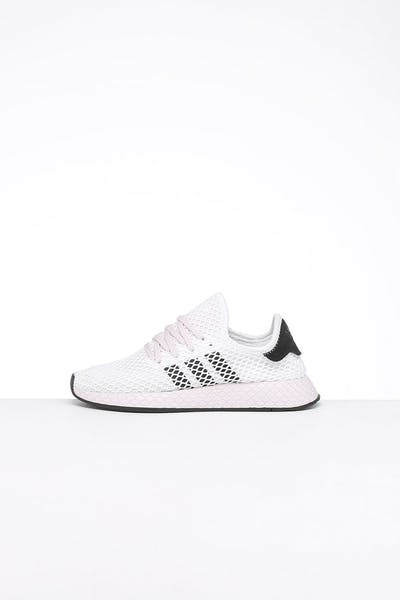 Adidas Women's Deerupt Runner White/Black/Orchid