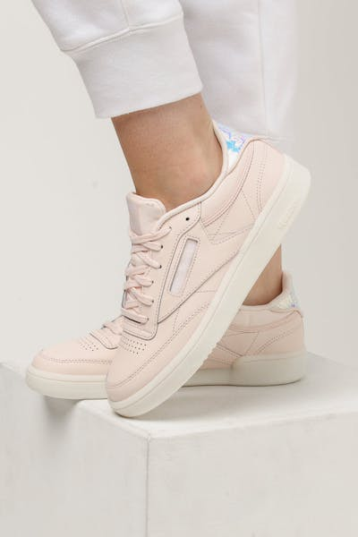 Reebok Women's Club C 85 Light Pink/White