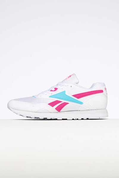 outlet store 34f19 5d8f2 Reebok Rapide MU White Pink Blue