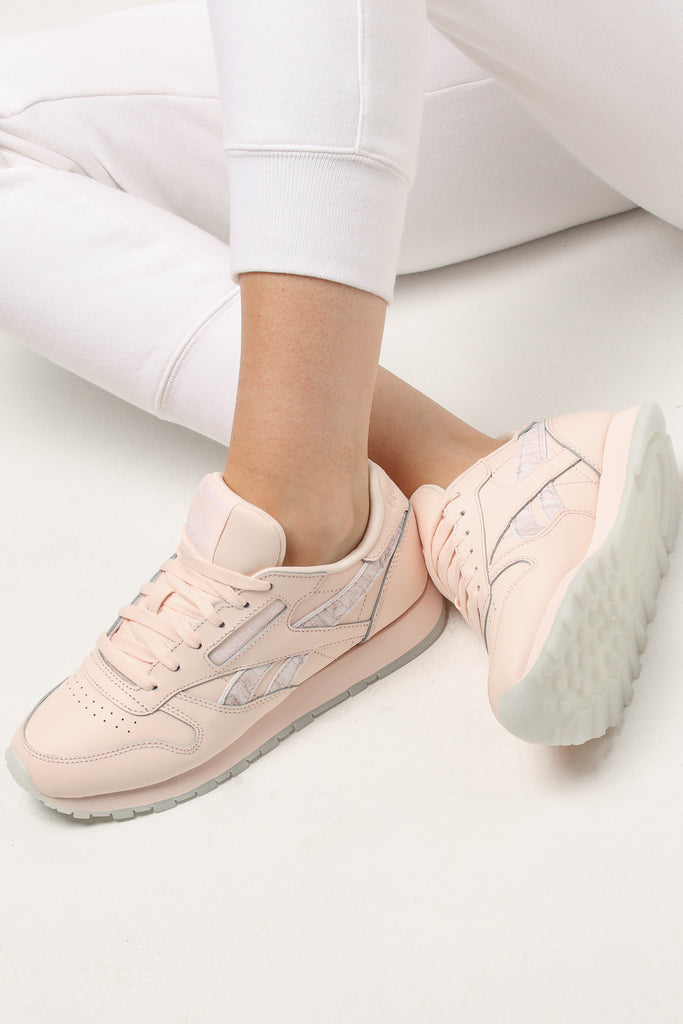 Reebok Classic Leather Light Women's Pinkwhite kZiOPuX