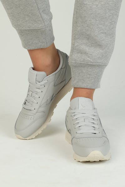 Reebok Women's Classic Leather Grey/Silver/Off White