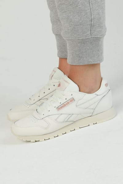 Reebok Women's Classic Leather Chalk/Rose Gold
