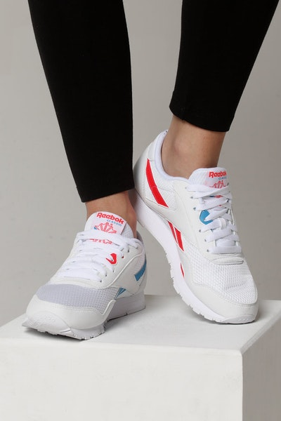 Reebok Women's Nylon TXT White/Blue/Red