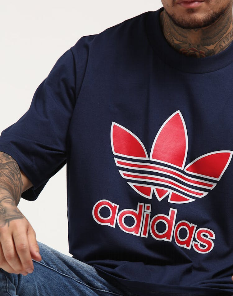 134b97d6ad1e Adidas Trefoil Tee Navy/Red – Culture Kings