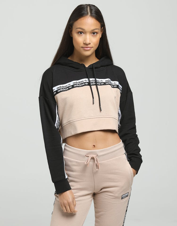 3272bb9a Adidas Women's Cropped Hoodie Ash Pearl/Black