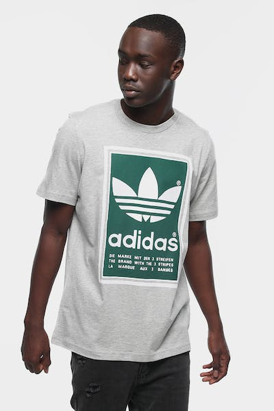 ADIDAS FILLED LABEL GREY/GREEN