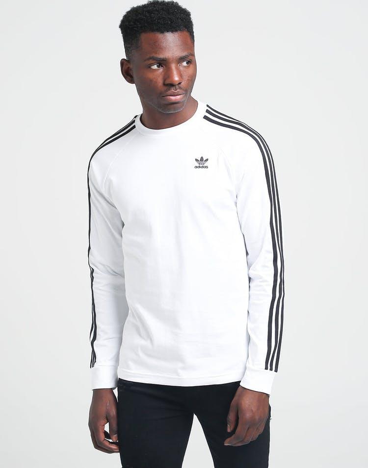 2f6338c9f3 Adidas 3-Stripes LS Tee White