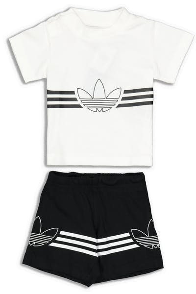 Adidas Infant Outline Tee Set White