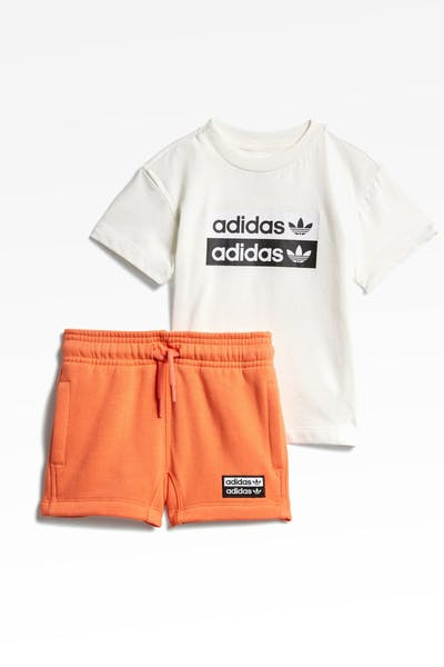 Adidas Infant V-ocal Short White/Coral