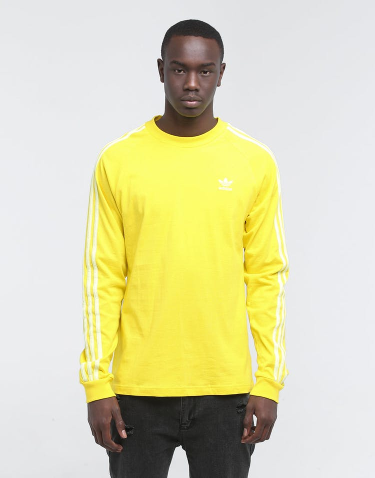 ADIDAS BLC 3-STRIPE LONG SLEEVE TEE YELLOW