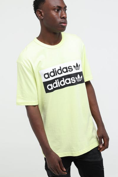 Adidas Vocal Logo Tee Ice Yellow