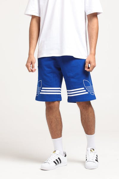 Adidas Outline Trefoil Shorts Royal/White