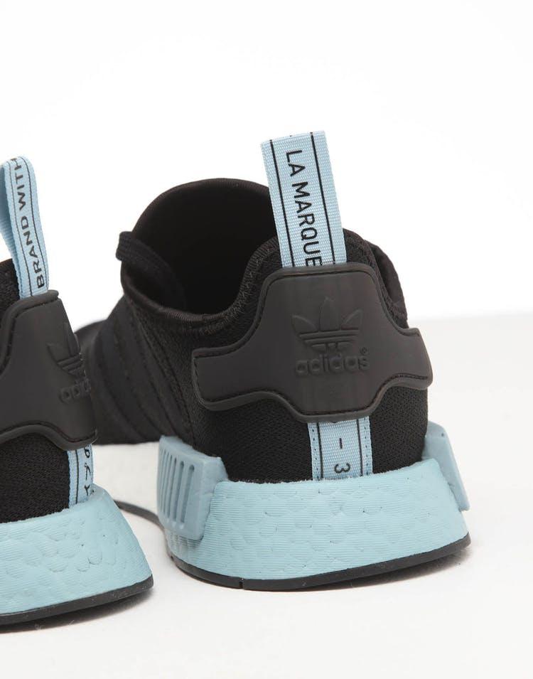 innovative design 12c4c 2f689 Adidas Women's NMD R1 Black/Black/Ash Grey