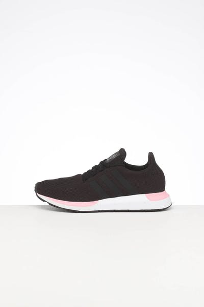 ADIDAS WOMEN'S SWIFT RUN BLACK/BLACK/PINK