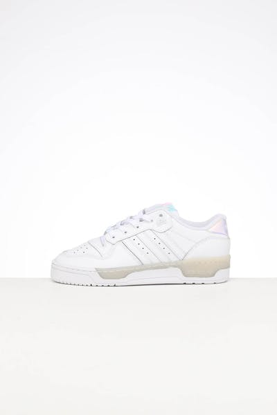 ADIDAS WOMEN'S RIVALRY LOW WHITE/WHITE/BLACK