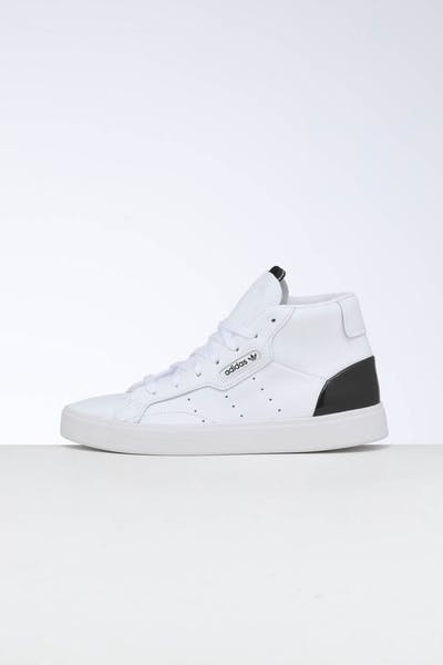 Adidas Women's Sleek Mid White/White/Black