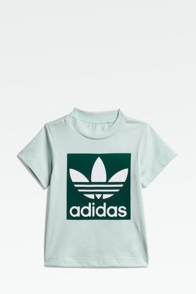 ADIDAS INFANT TREFOIL TEE GREEN/WHITE