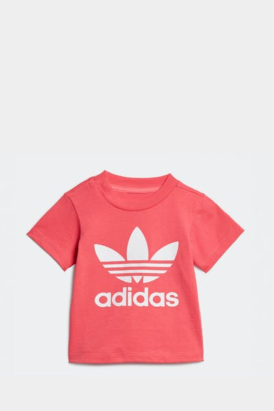 ADIDAS INFANT TREFOIL TEE PINK/WHITE