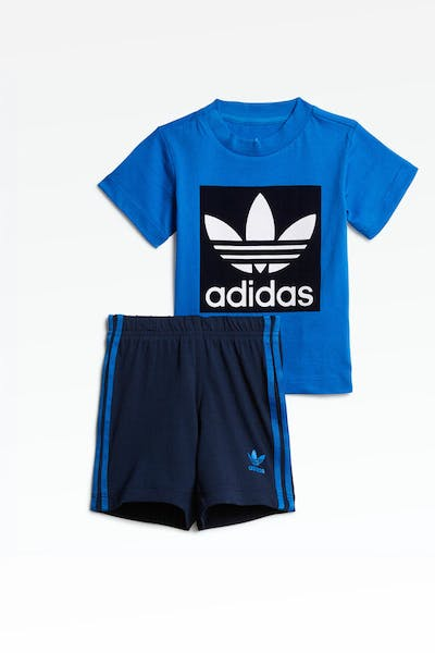 Adidas Infant Short Tee Set Blue/Navy/White