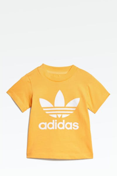 ADIDAS INFANT TREFOIL TEE GOLD/WHITE