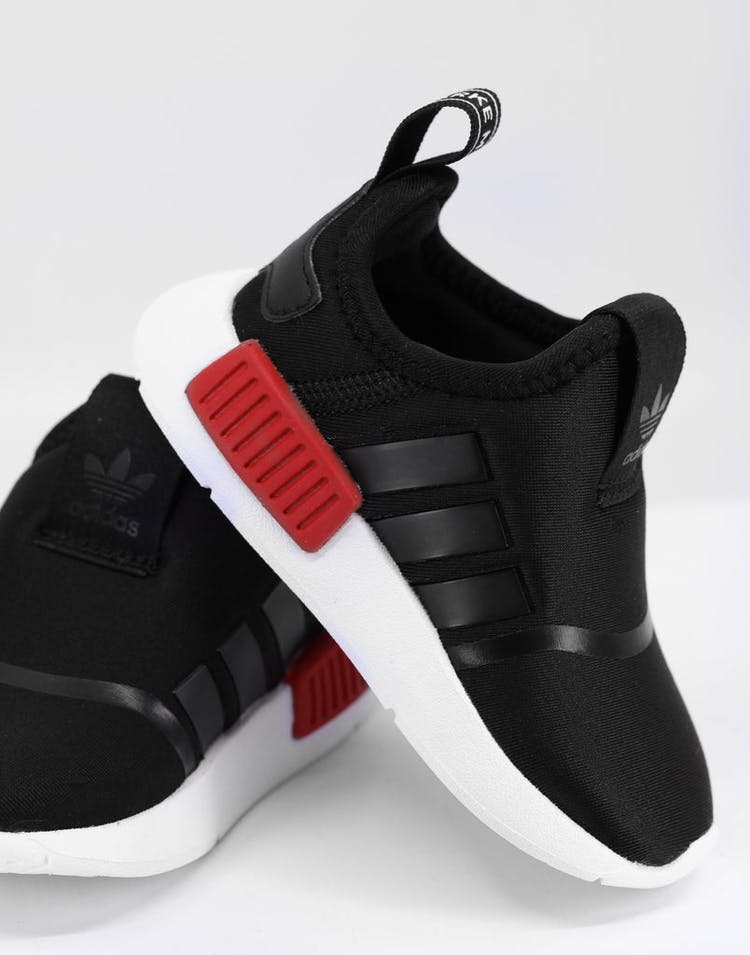 on sale 532c7 60b0a Adidas Toddler NMD 360 I Black/Black/White