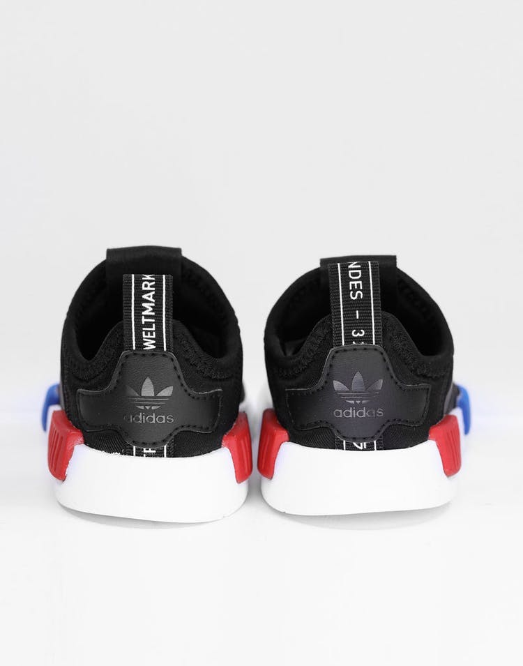 on sale a1456 d0345 Adidas Toddler NMD 360 I Black/Black/White