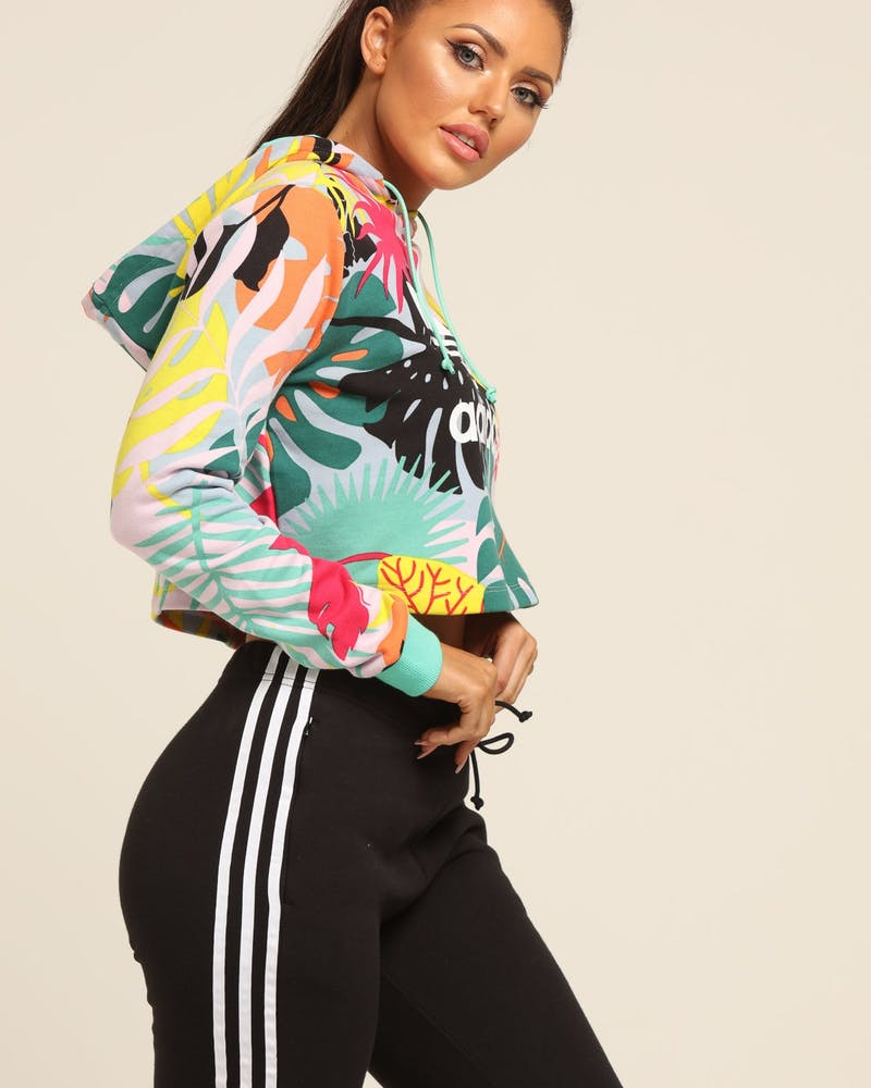 Adidas Women's Floral Graphic Sweatshirt Multi-Coloured