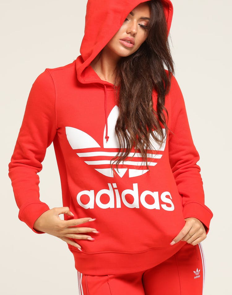 47c60af0b3ac Adidas Women s Love Hooded Sweat Red – Culture Kings