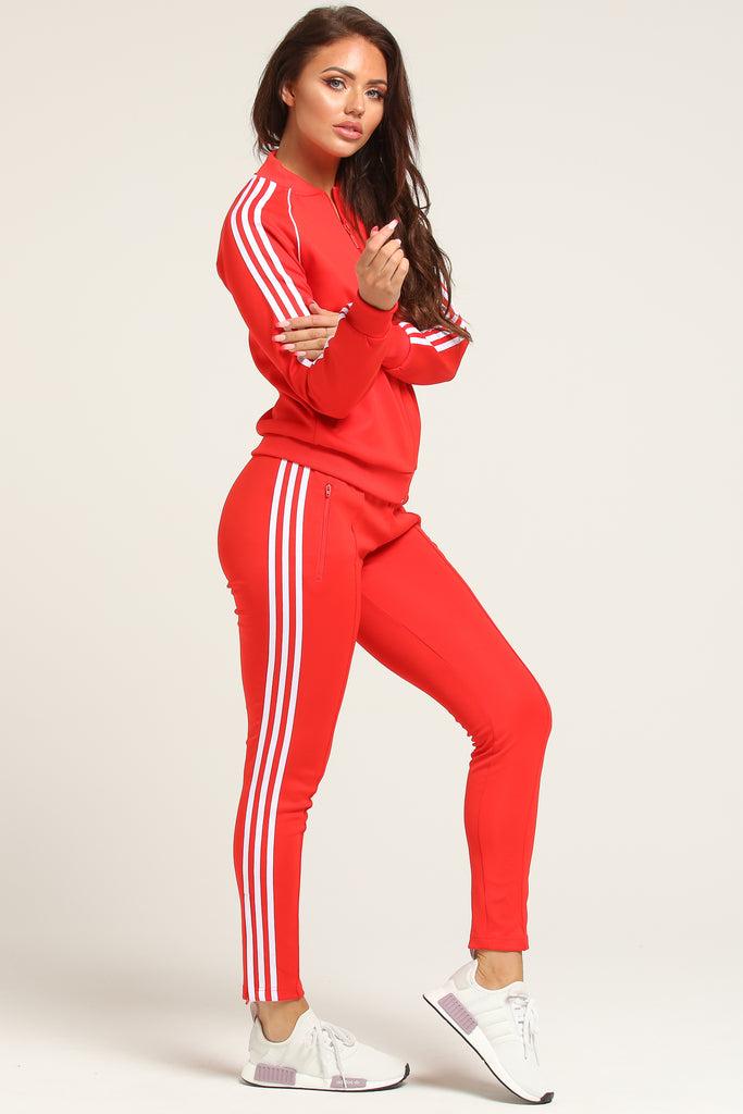 ladies red adidas tracksuit promo code