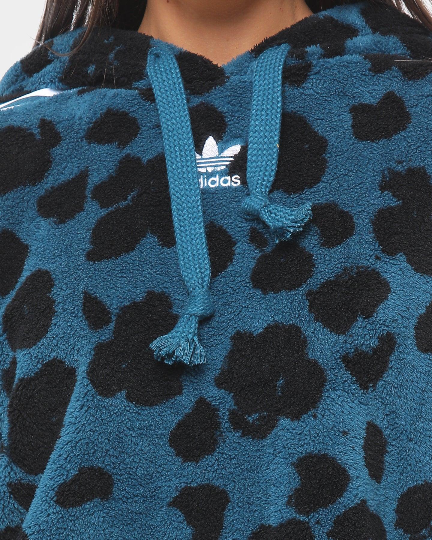 Adidas Women Sherpa Hoodie MineralBlack