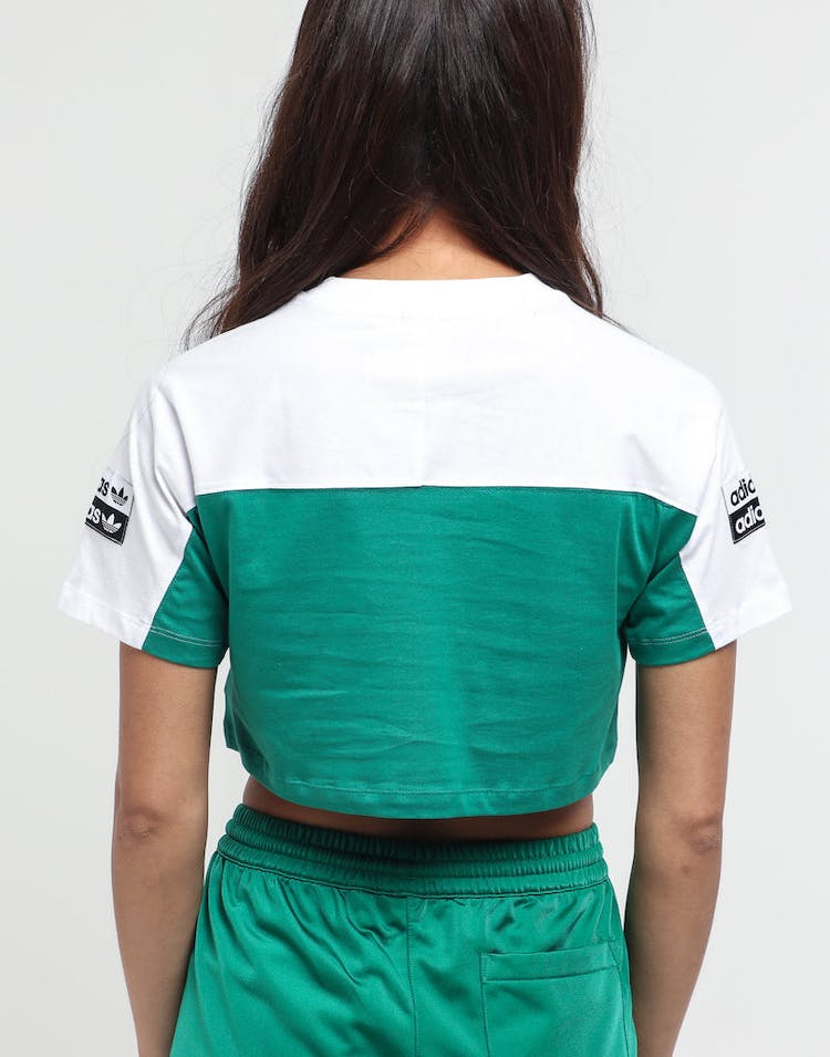 Adidas Women's Cropped Tee White/Green