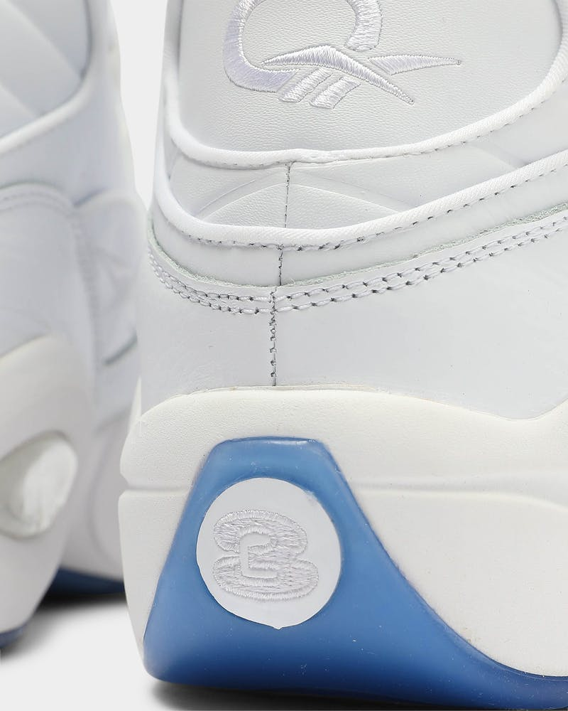 Reebok Men's Question Mid White/White/White