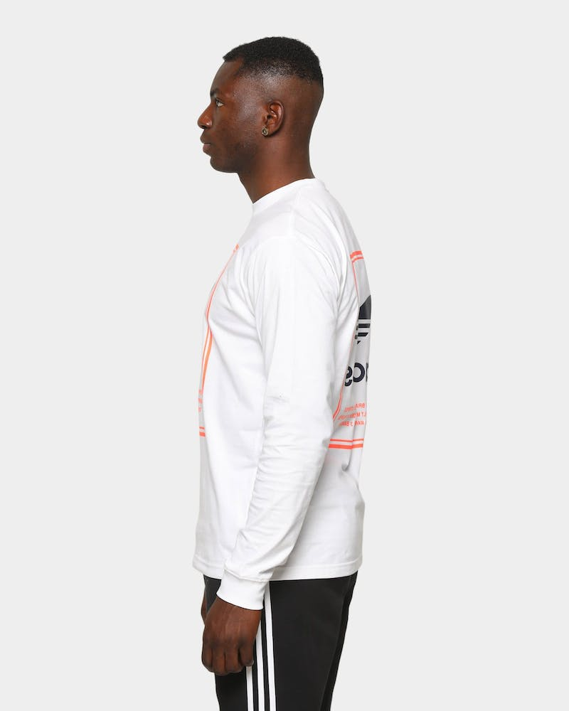 Adidas Tongue Label Long-Sleeve T-Shirt White