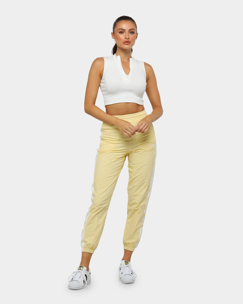 Adidas Women's Lock Up Trackpant Yellow/White