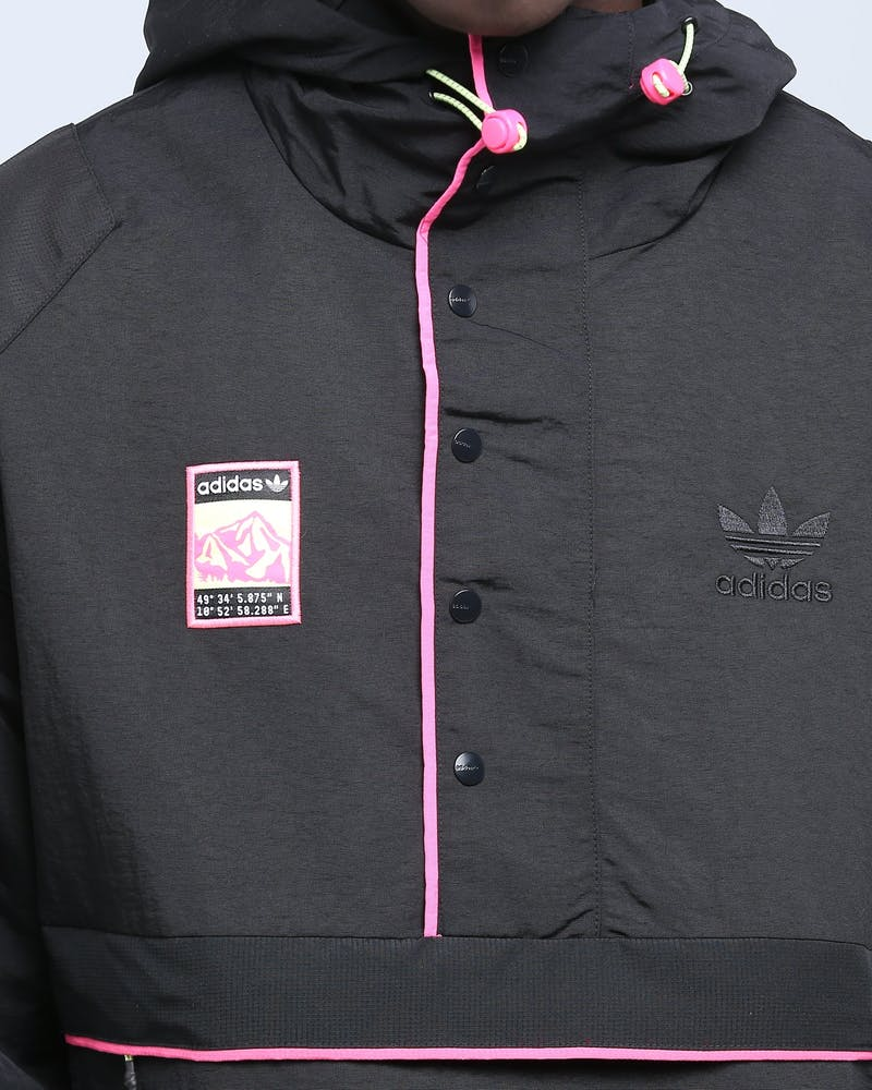 ADIDAS HOODED JACKET BLACK