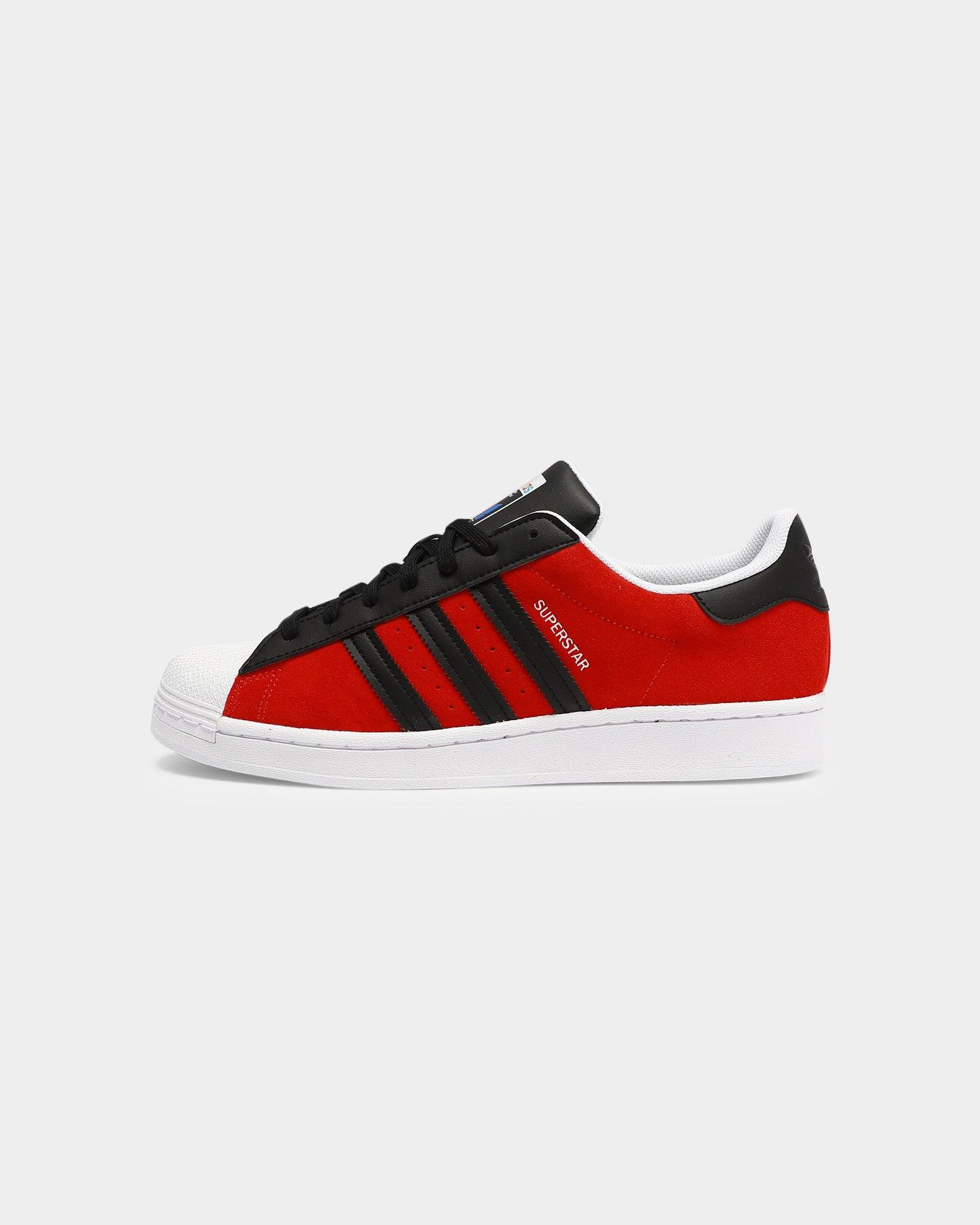 Adidas Superstar Red/Black/Yellow