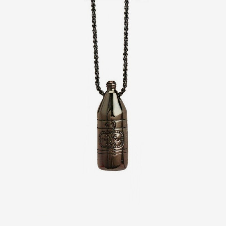40 OZ Necklace Gunmetal