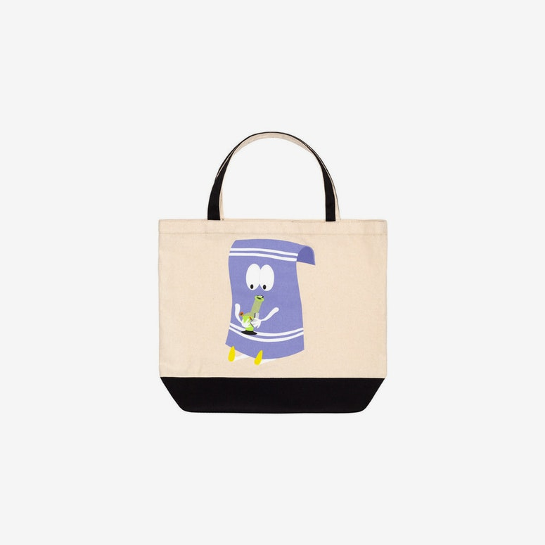 South Park Tote Bag Cream/black