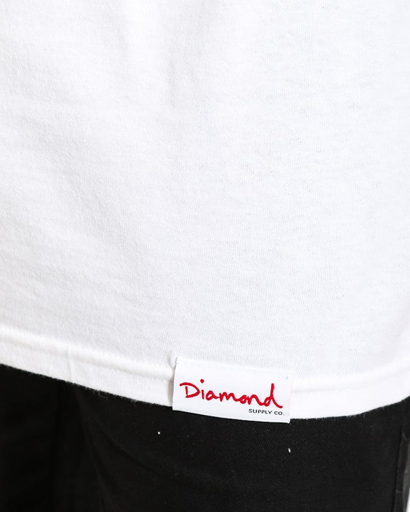 Diamond Supply UN Polo Heavyweights Tee White