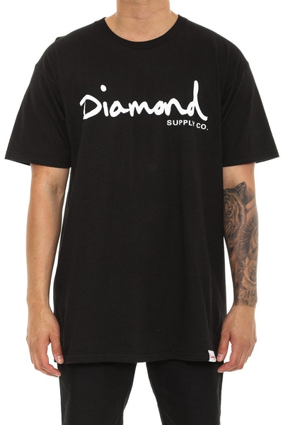 Diamond Supply OG Script Tee Black