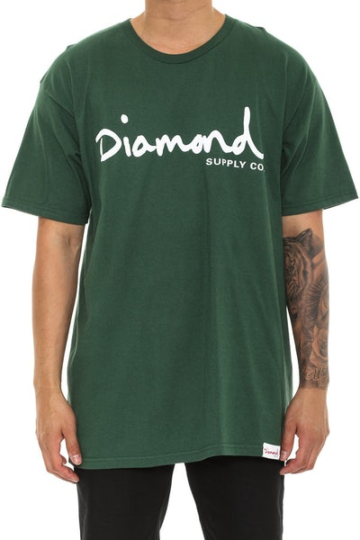 Diamond Supply OG Script Tee Forest Green