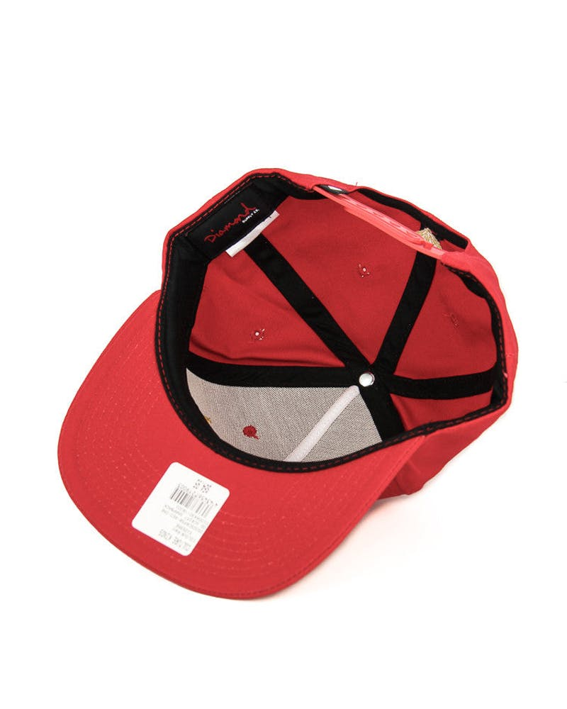 Diamond Supply OG Script Snapback Red