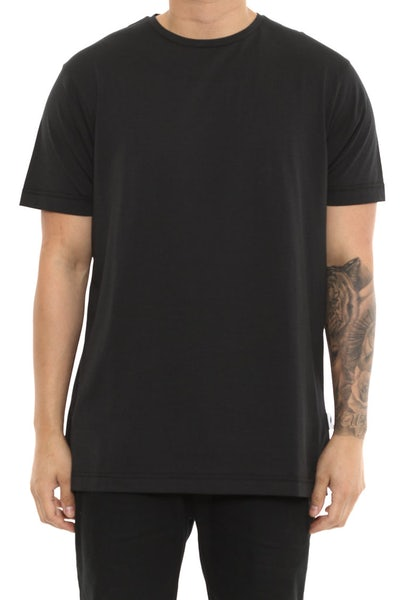 Publish Short Sleeve Plain Tee Black