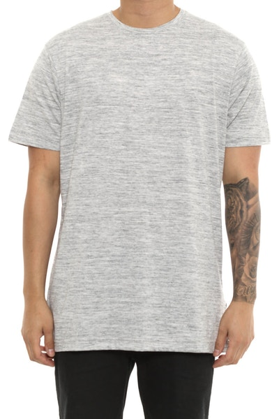 Publish Short Sleeve Plain Tee Grey Heather